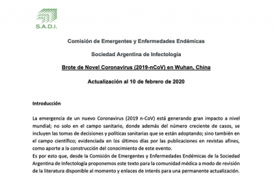 Brote de Novel Coronavirus (2019-nCoV) en Wuhan, China