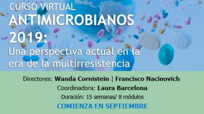 Curso virtual | Antimicrobianos 2019: una perspectiva actual en la era de la multirresistencia