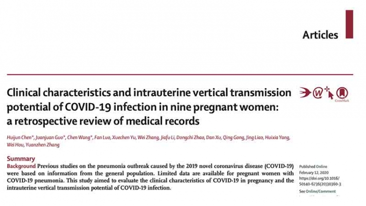 Clinical characteristics and intrauterine vertical transmissio potential of COVID-19 infection in nine pregnant women: a retrospective review of medical records